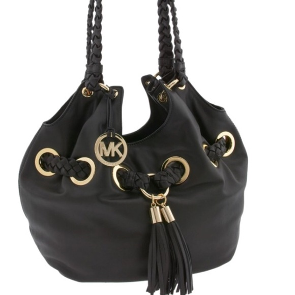 d7aa64879def Michael Kors Bags | Mk Signature Tasseled Braided Grommet Large Tote ...